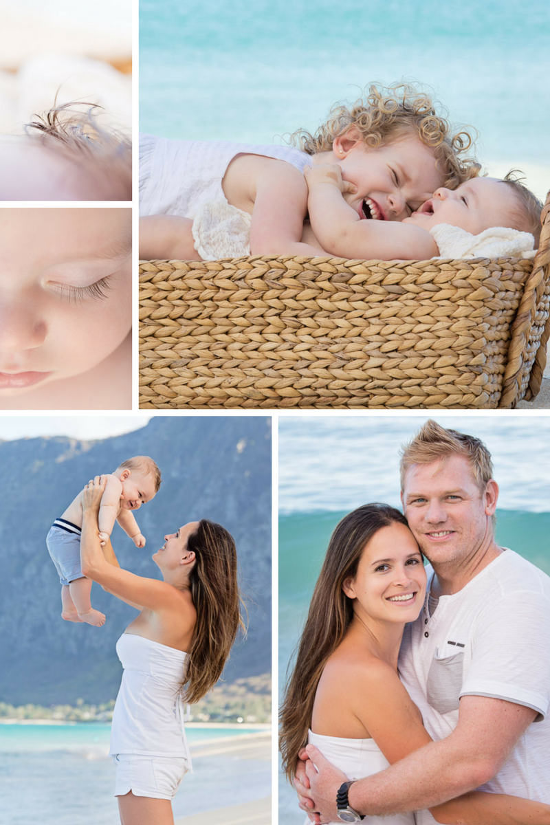Oahu Hawaii family beach photography
